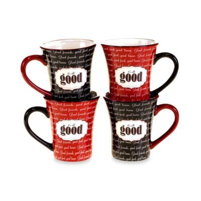 Certified International Eat at Mom's Mugs (Set of 4)