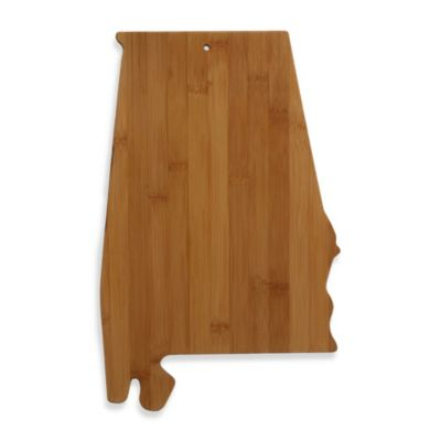 Totally Bamboo Alabama State Shaped Cutting/Serving Board