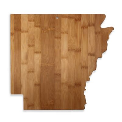 Totally Bamboo Arkansas State Shaped Cutting/Serving Board