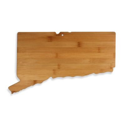 Totally Bamboo Connecticut State Shaped Cutting/Serving Board