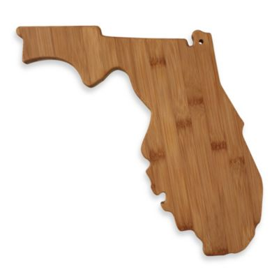 Totally Bamboo Florida State Shaped Cutting/Serving Board