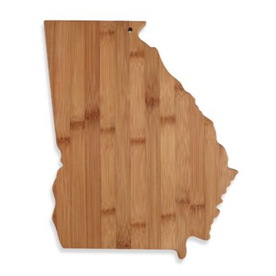 Totally Bamboo Georgia State Shaped Cutting/Serving Board