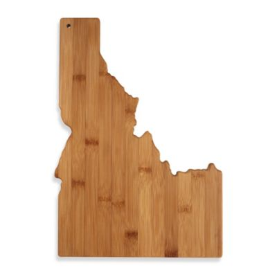 Totally Bamboo Idaho State Shaped Cutting/Serving Board