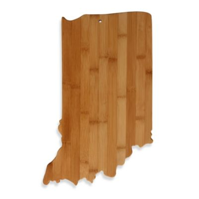 Totally Bamboo Indiana State Shaped Cutting/Serving Board