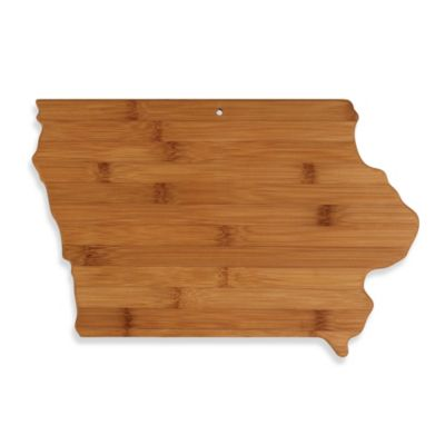 Totally Bamboo Iowa State Shaped Cutting/Serving Board