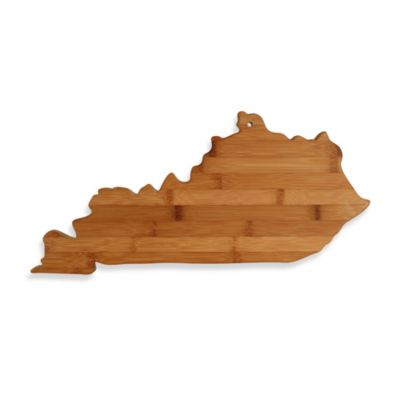 Totally Bamboo Kentucky State Shaped Cutting/Serving Board