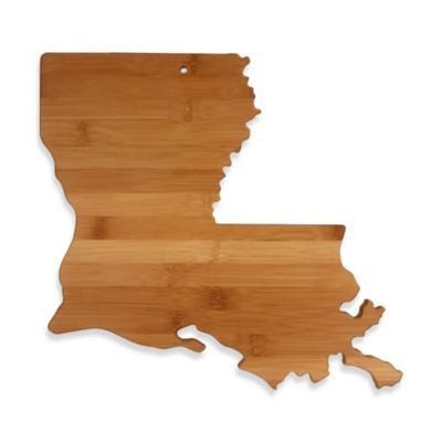 Totally Bamboo Louisiana State Shaped Cutting/Serving Board