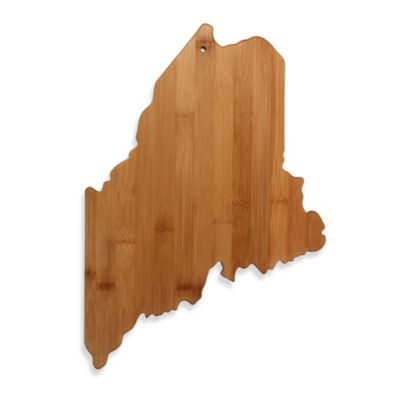 Totally Bamboo Maine State Shaped Cutting/Serving Board