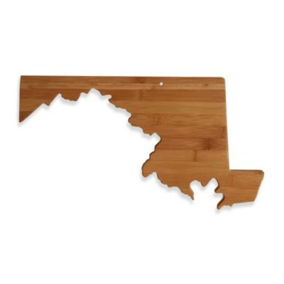 Totally Bamboo Maryland State Shaped Cutting/Serving Board