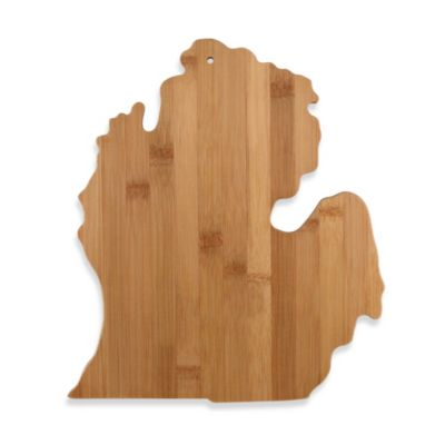 Totally Bamboo Michigan State Shaped Cutting/Serving Board