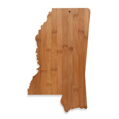 Totally Bamboo Mississippi State Shaped Cutting/Serving Board