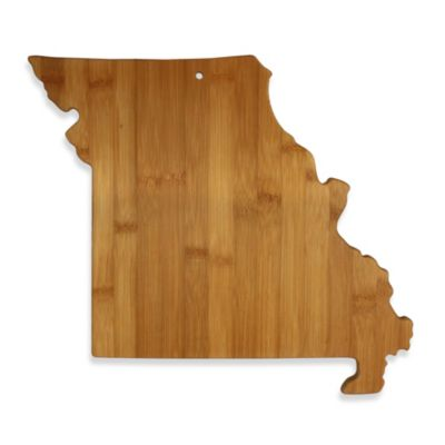 Totally Bamboo Missouri State Shaped Cutting/Serving Board