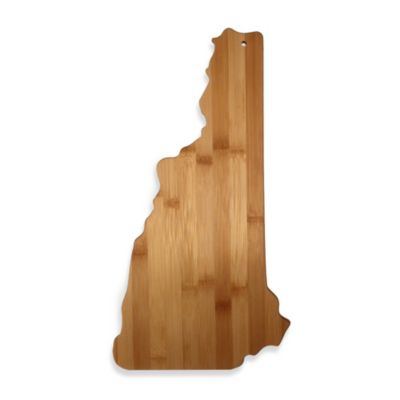 Totally Bamboo New Hampshire State Shaped Cutting/Serving Board