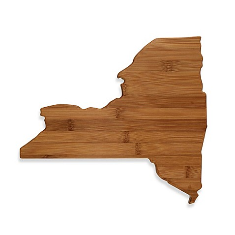 Totally Bamboo New York State Shaped Cutting Serving Board