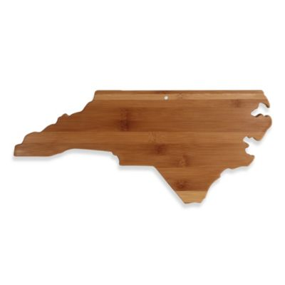 Totally Bamboo North Carolina State Shaped Cutting/Serving Board