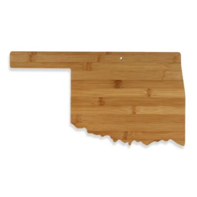 Totally Bamboo Oklahoma State Shaped Cutting/Serving Board