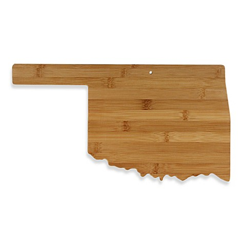 buy totally bamboo oklahoma state shaped cutting serving board from bed bath beyond. Black Bedroom Furniture Sets. Home Design Ideas