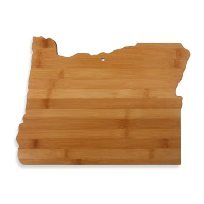Totally Bamboo Oregon State Shaped Cutting/Serving Board