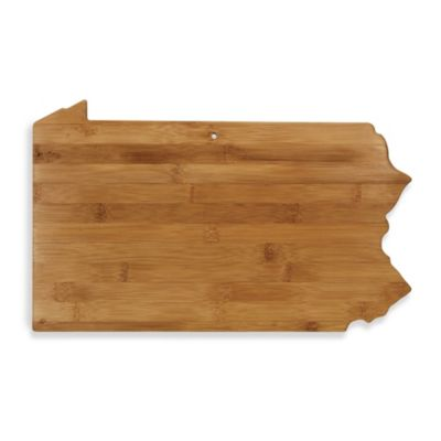 Totally Bamboo Pennsylvania State Shaped Cutting/Serving Board