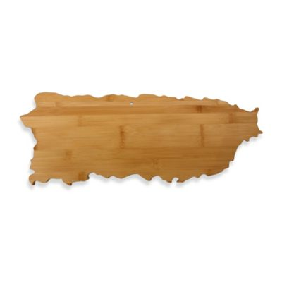 Totally Bamboo Puerto Rico State Shaped Cutting/Serving Board