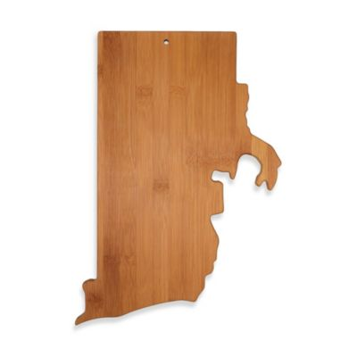Totally Bamboo Rhode Island State Shaped Cutting/Serving Board