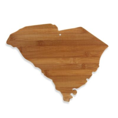 Totally Bamboo South Carolina State Shaped Cutting/Serving Board