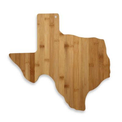 Totally Bamboo Texas State Shaped Cutting/Serving Board