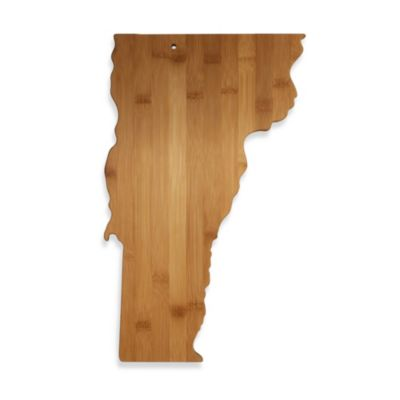Totally Bamboo Vermont State Shaped Cutting/Serving Board