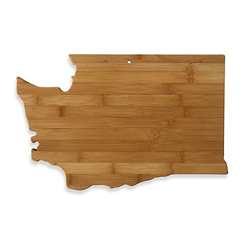 buy totally bamboo washington state shaped cutting serving board from bed bath beyond. Black Bedroom Furniture Sets. Home Design Ideas