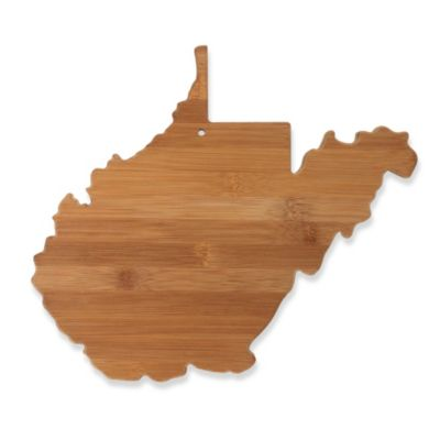 Totally Bamboo West Virginia State Shaped Cutting/Serving Board