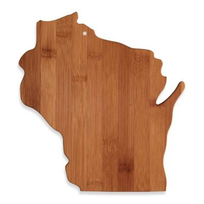 Totally Bamboo Wisconsin State Shaped Cutting/Serving Board