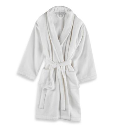 Unisex Terry Bathrobe in White