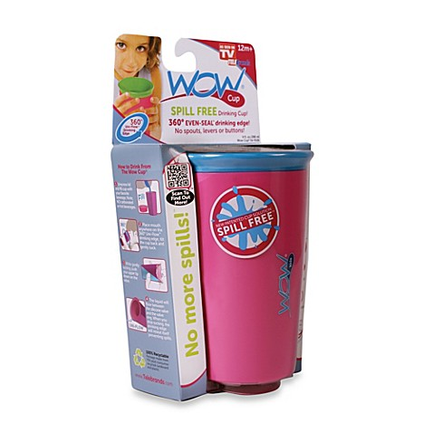 Wow Cup® Spill-Free Drinking Cup in Pink