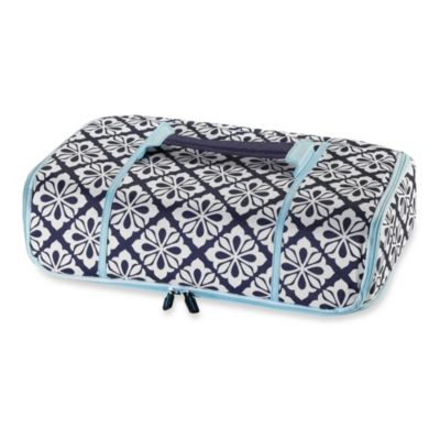 Real Simple® Insulated Thermal Carrier in Blue/White Print