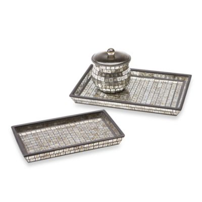 Bombay™ Moroccan Bath Large Glass Vanity Tray