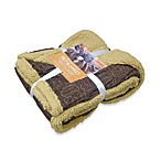 Embroidered Suede Bone Pattern 50-Inch x 60-Inch Pet Throw Blanket in Bamboo/Bark