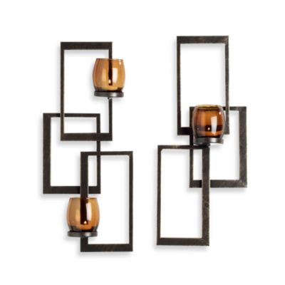 Mikasa Set of 2 Twist Sconces