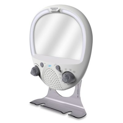 Sharper Image® LED Shower Radio and Anti-Fog Mirror