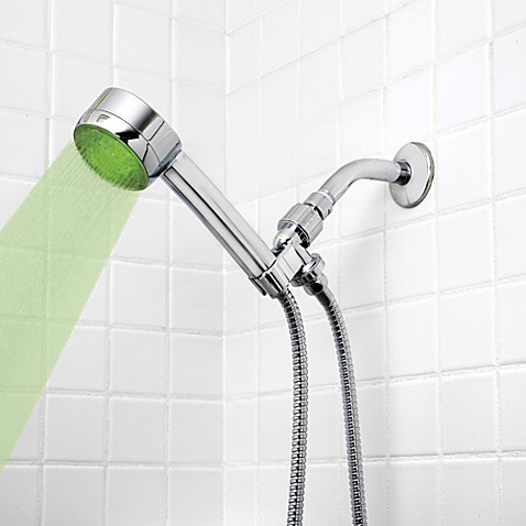 buy healthsmart lumatemp led shower head in chrome from shower heads bed bath amp beyond