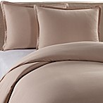 Pure Beech Percale Duvet Cover and Sham Set in Taupe