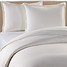 Pure Beech Percale Duvet Cover Set In White Bed Bath Amp Beyond
