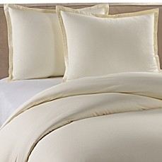 Pure Beech Percale Duvet Cover Set In Cream Bed Bath Amp Beyond