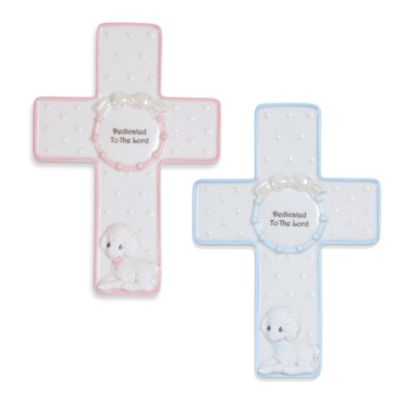 Precious Moments® Dedicated to the Lord Personalizable Cross in Pink with Stand
