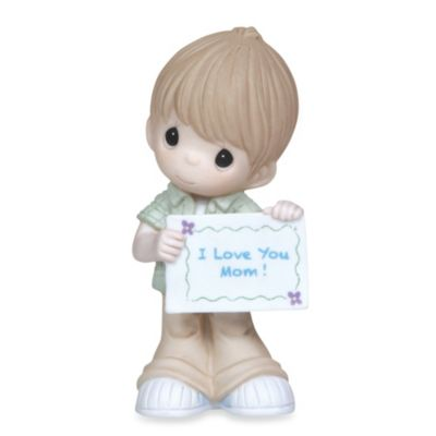 Precious Moments® Boy With I Love You Mom Sign Figurine