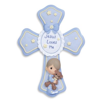 Precious Moments® Jesus Loves Me Boy Cross with Easel Stand