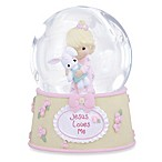 Precious Moments® Jesus Loves Me Girl with Bunny Musical Water Globe