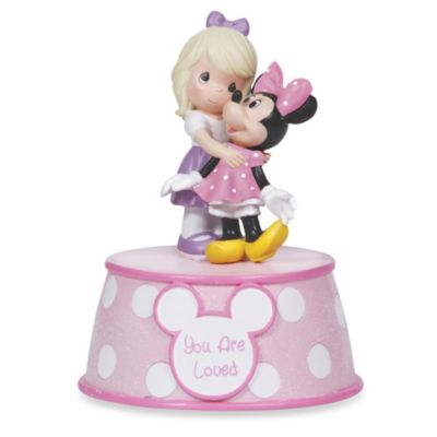 Precious Moments® You Are Loved Girl Holding Minnie Mouse Musical Figurine