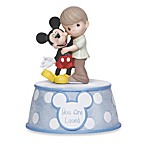 Precious Moments® You Are Loved Boy Holding Mickey Mouse Musical Figurine