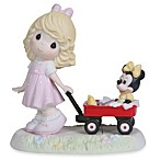 Precious Moments® Wherever the Road Leads Together We'll Always Be Girl Pulling Minnie Figurine