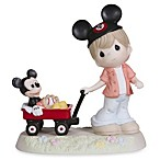 Precious Moments® Wherever the Road Leads Together We'll Always Be Boy Pulling Mickey Figurine